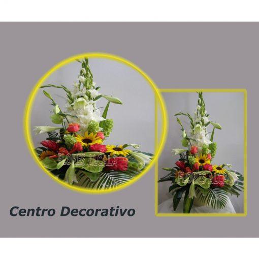 Centro Vertical en tonos calidos y verdes variados de temporada