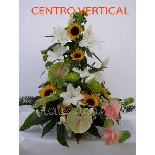 Centro Vertical con Lilium Oriental y flores variadas de gran calidad