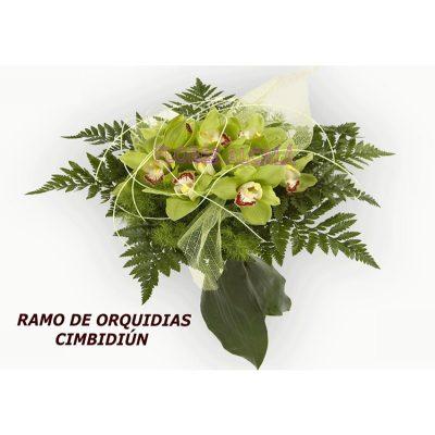 Ramo de Orquideas con Verdes de Temporada