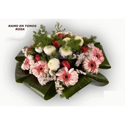 Ramo Variado con Gerberas y Crisantemo  con Verdes de temporada