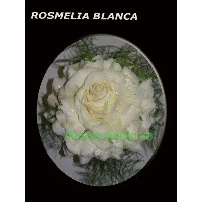 Ramo de Novia Rosmelia Blanco acabado con diferentes verdes Ornamentales