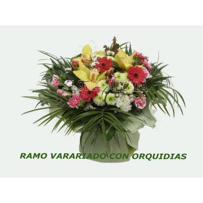 Ramo Variado  Primaveral con Orquideas Cymbidium