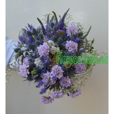 Ramo de Novia en tonos Azules  con Flores Silvestres