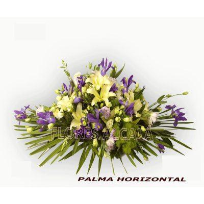 Palma Grande en colores Fríos con Lilium e Iris