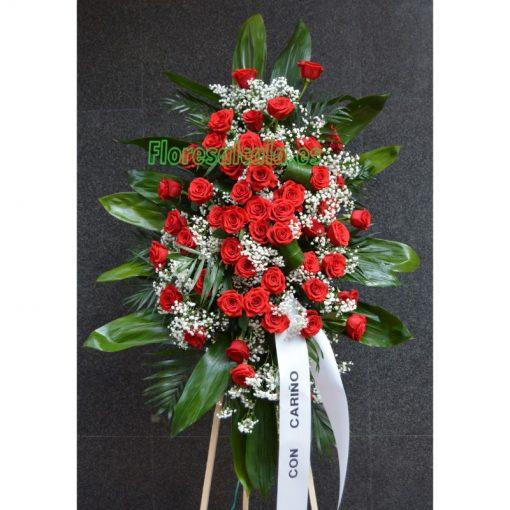 Palma Grande de Rosas con Gladiolos y Clavel