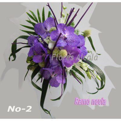 Ramo de Novia con Orquideas Vanda y fantasia  y Verdes Ornamentales